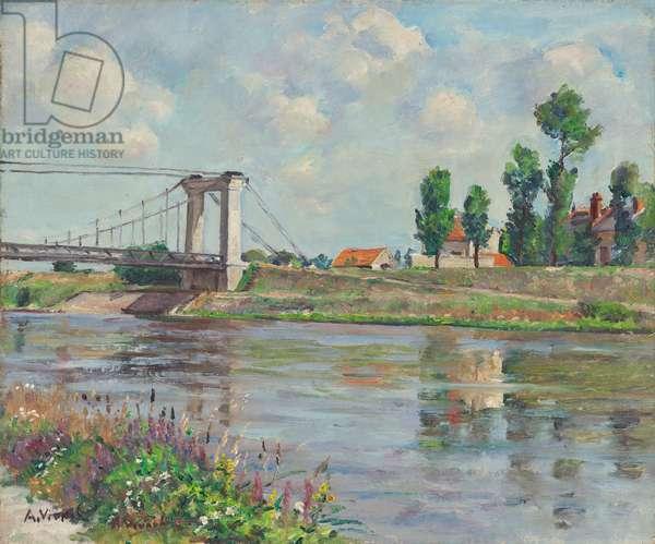 The Suspension Bridge of Châtillon-sur-Loire, 1932 (oil on canvas)