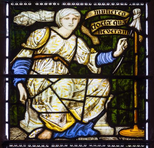 Paisley Abbey, Morris & Co., Edward Burne-Jones, The Virtuous Woman, She Layeth Her Hand To The Spindle, 1874