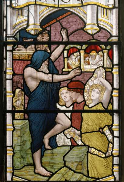Dance of Miriam, 1882 (stained glass)