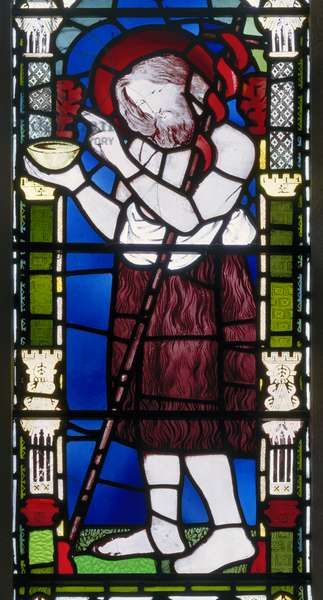 Banstead, All Saints, Morris Marshall & Faulkner & Co, DG Rossetti, John The Baptist, 1863