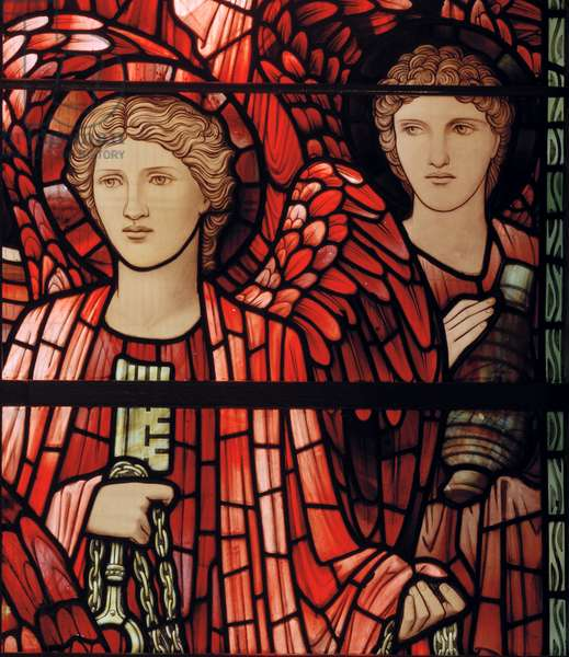 The Last Judgement Window, detail, 1897 (stained glass)