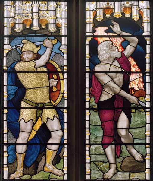 Joshua & Elijah, 1882 (stained glass)