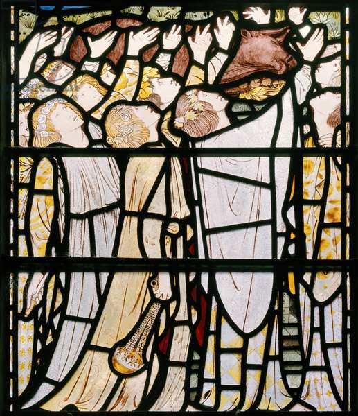 Elijah and the Priests of Baal, detail, 1863 (stained glass)