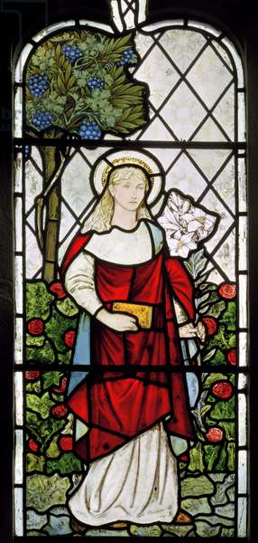 The Virgin Mary, 1873 (stained glass)