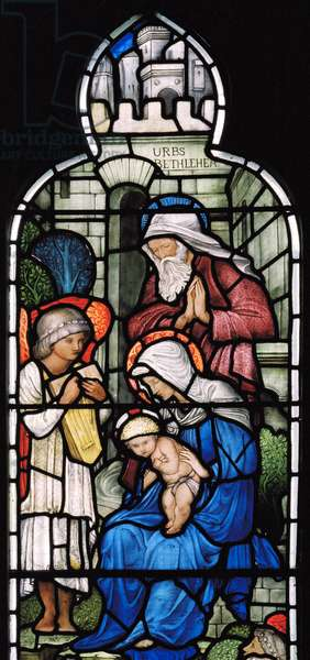 Musical Angel, Nativity, 1876 (stained glass)