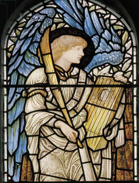 Angel Musician, 1877 (stained glass)