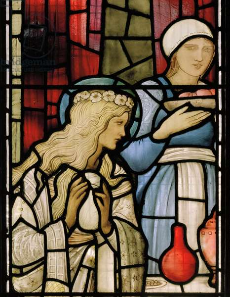 Detail from the 'Feast In The House Of Simon', 1885 (stained glass)