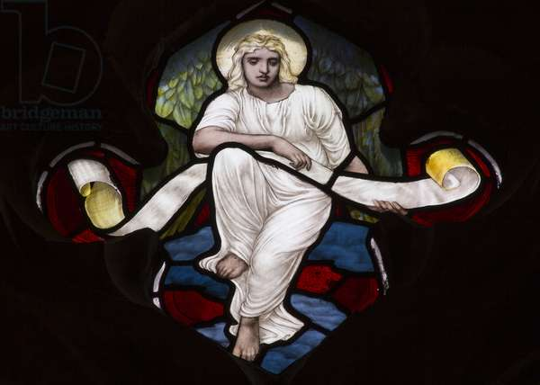 Quatrefoil Tracery Angel, 1882 (stained glass)