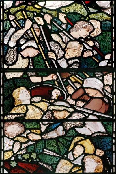 The Battle of Beth Horon, 1862-3 (stained glass)
