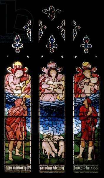The Annunciation To The Shepherds, 1883 (stained glass)