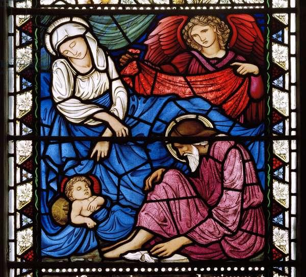 Kirkcaldy Old Kirk, Morris & Co., Edward Burne-Jones, The Nativity, 1886