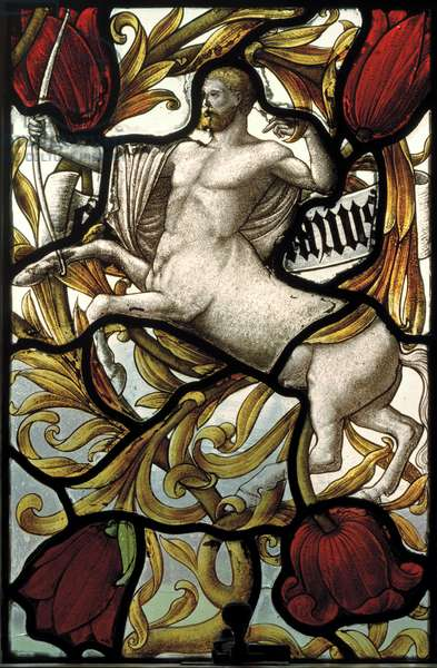 Signs Of The Zodiac, Taurus, 1886 (stained glass)
