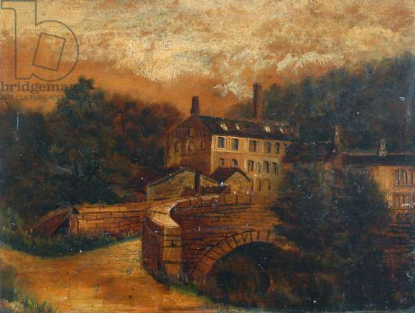 Gibson Mill (oil on card)