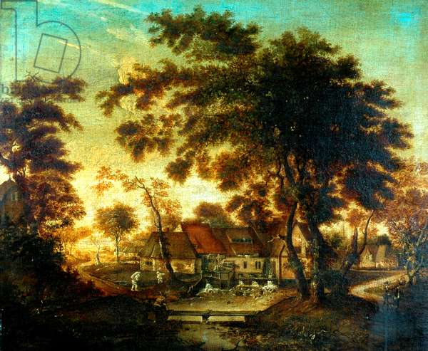The Water Mill (oil on canvas)