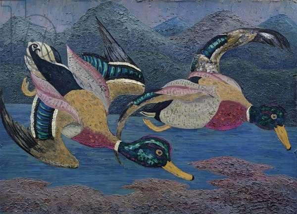 Ducks (oil on canvas)