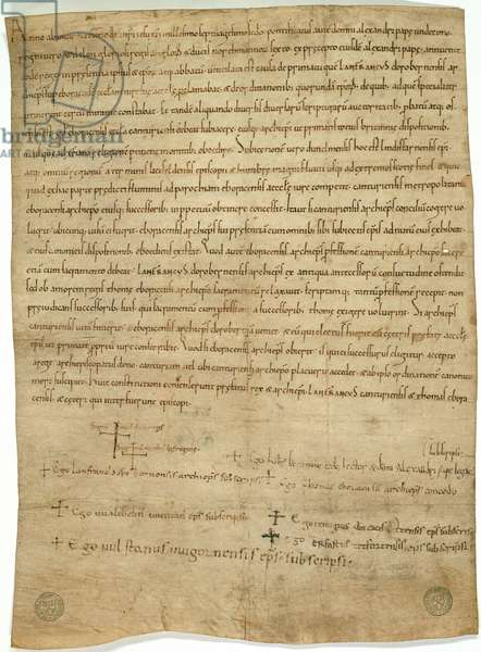 CCA-ChAnt/A/2 Accord of Winchester, 1072 (ink on parchment)
