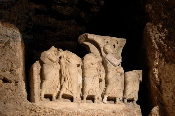 Fragment of the sarcophagus of four of the seven sleepers (Carrara marble)