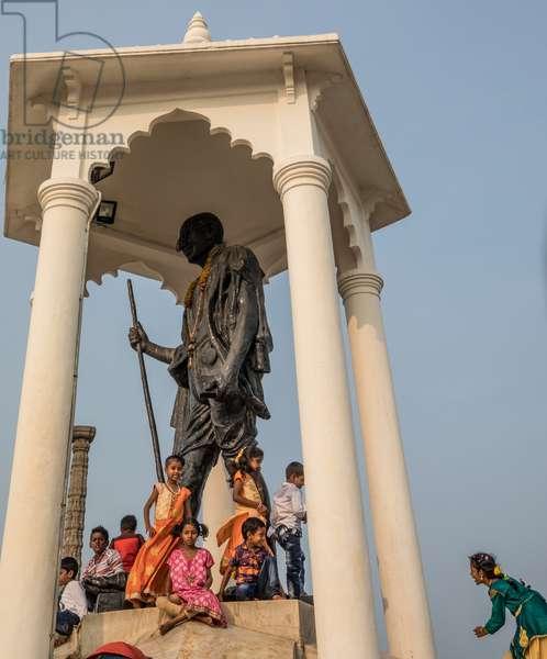 Mahatma Ghandi Memorial, Puducherry (Pondicherry) Tamil Nadu, India, February 2019 (photo)