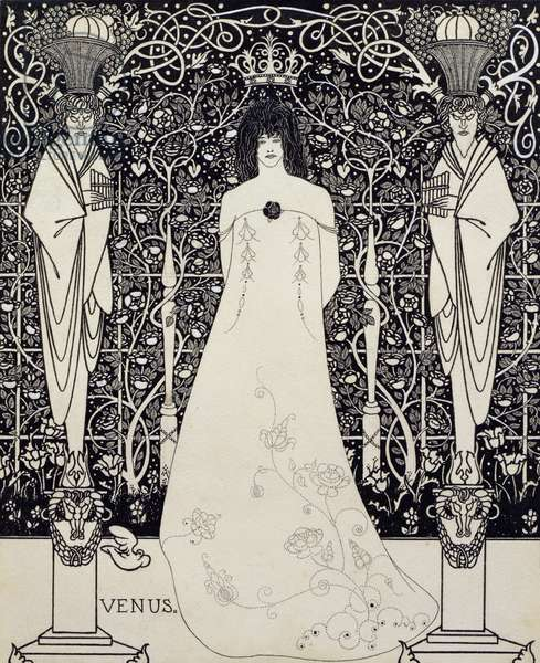 Frontispiece for 'Venus and Tannhauser', c.1895 (pen and ink)