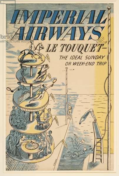 'Le Touquet', advertisement for Imperial Airways (colour litho)