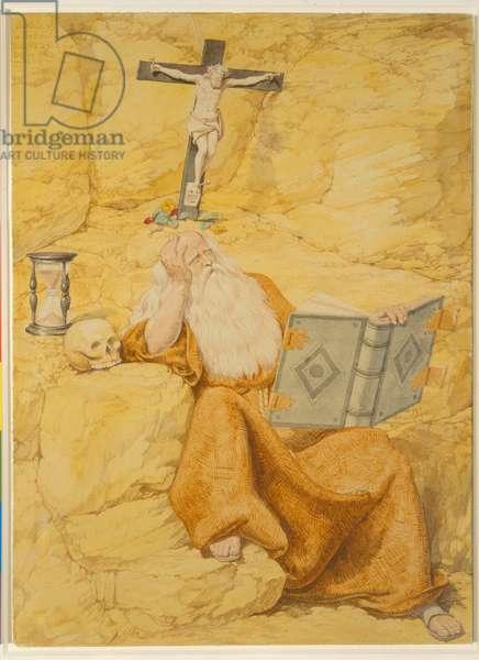 A Hermit, 1853 (w/c on paper)