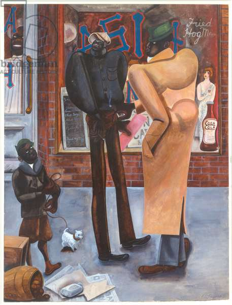 Harlem, 1934 (w/c & bodycolour on paper)