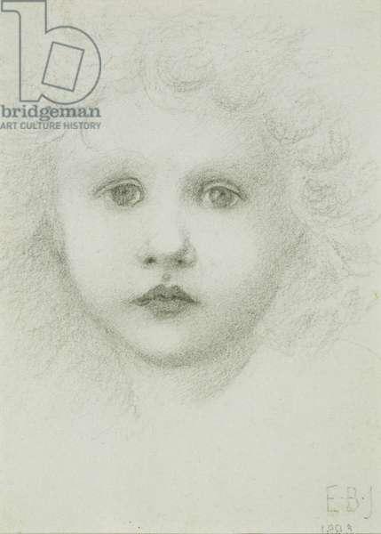 A child's head, 1883 (pencil on paper)