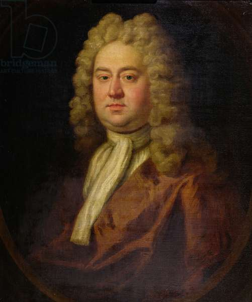 Portrait of a Gentleman, said to be George Frederick Handel, c.1730 (oil on canvas)