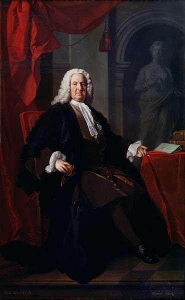 Portrait of Dr. Richard Mead, 1747 (oil on canvas)