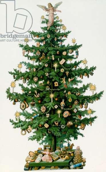 Christmas Tree (colour litho)
