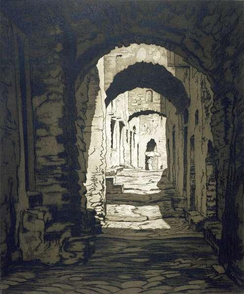 Via Castello, Dolce Aqua (etching)