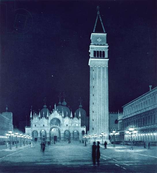 Venetian Nocturne (etching)