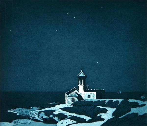 Little Chapel by the Sea (etching)