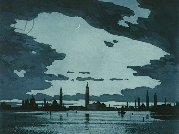 Venice from the Lido (etching)