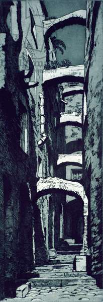 In Old San Remo (etching)