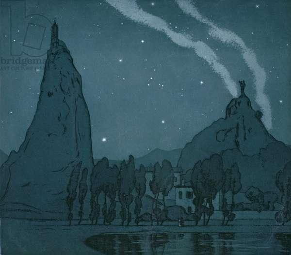 Le Puy: A Nocturne (etching)
