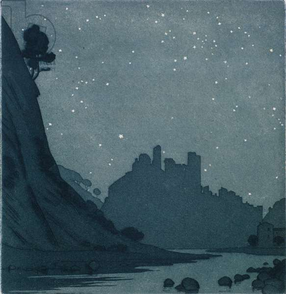 Castle in the Starlight (etching)