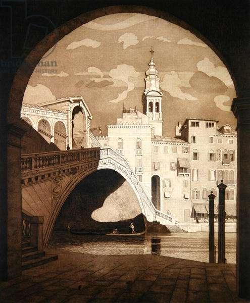 The Rialto, Venice (etching)