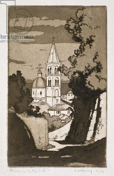 Alassio Cathedral (etching) (see 260018)