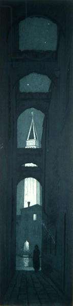 Street in Venice (etching)