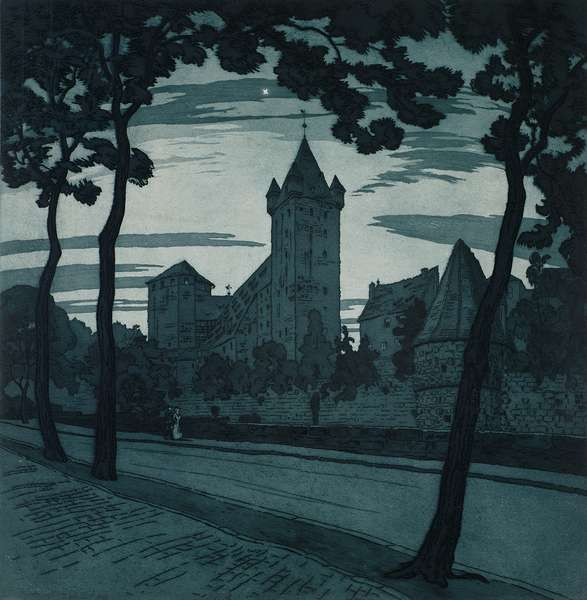 The Castle, Nuremburg (etching)