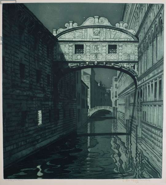 The Bridge of Sighs (etching)