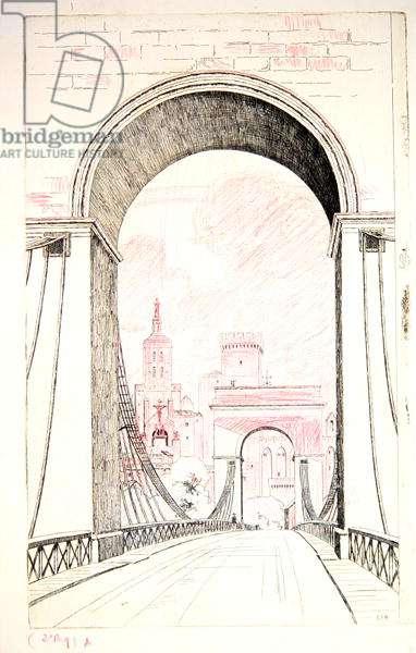 Avignon (etching)