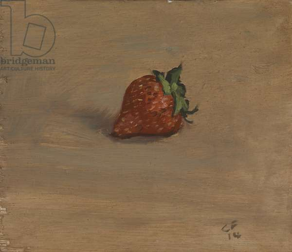 Strawberry, 2014 (oil on wood)