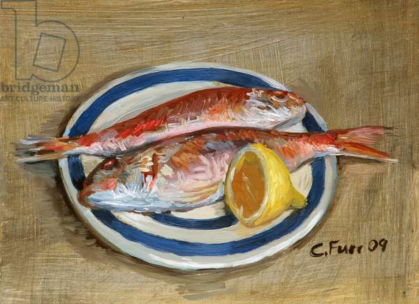 Two red Mullet, 2009 (oil on panel)