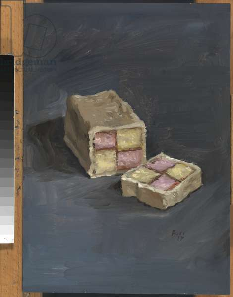 Battenberg Original: A Great Piece of Cake, 2017 (oil on panel)
