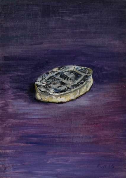 Champion on Purple, 2013 (oil on wood)