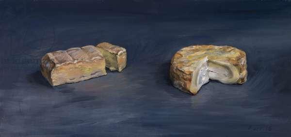 Romadur Epoisses (Mum and Dad), 2016 (oil on wood)