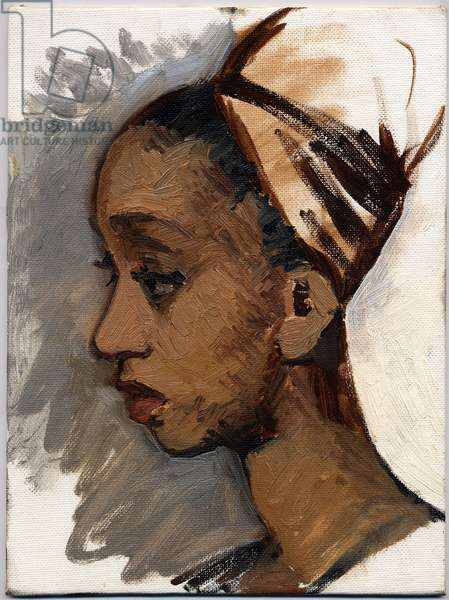 Girl Thinking, 1991 (oil on canvas board)