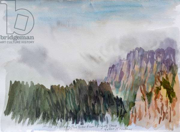 Mists Coming at Lion's peak, 2015 (w/c on paper)